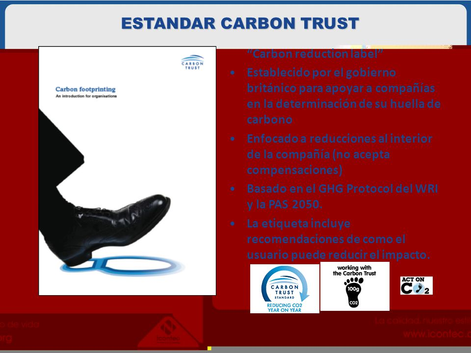 ESTANDAR CARBON TRUST Carbon reduction label