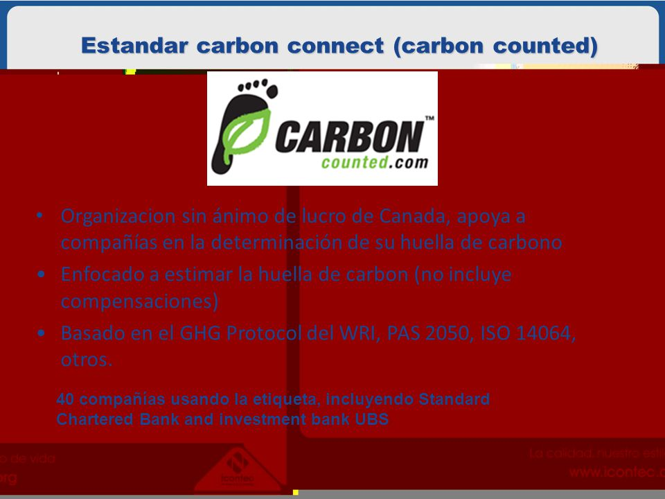 Estandar carbon connect (carbon counted)