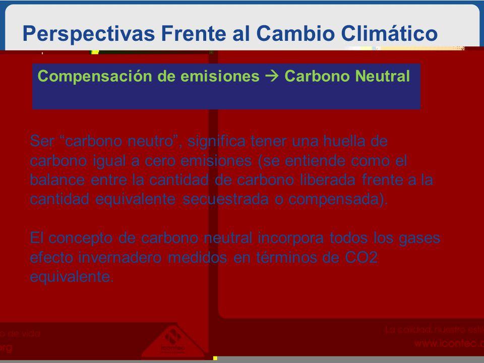 Perspectivas Frente al Cambio Climático