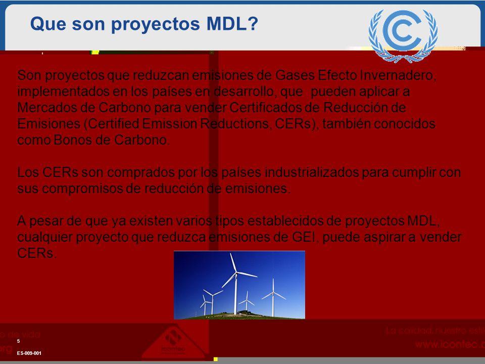Que son proyectos MDL