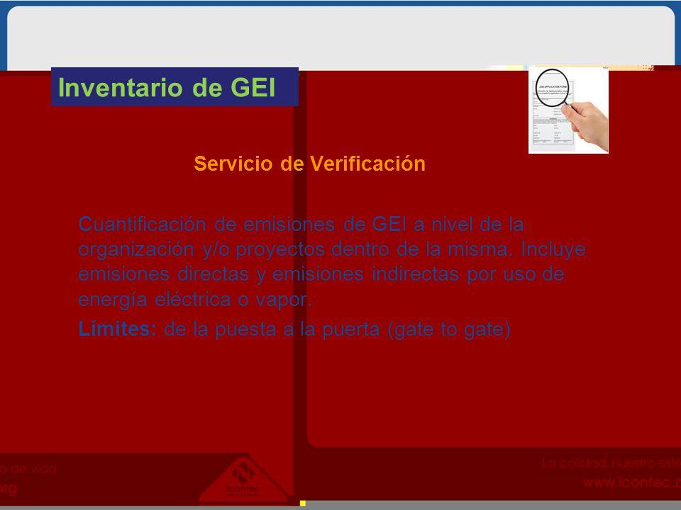 Inventario de GEI Servicio de Verificación.