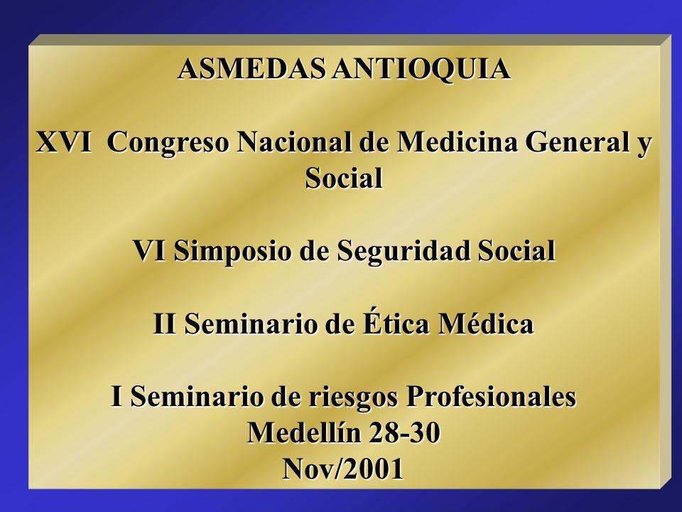 XVI Congreso Nacional de Medicina General y Social