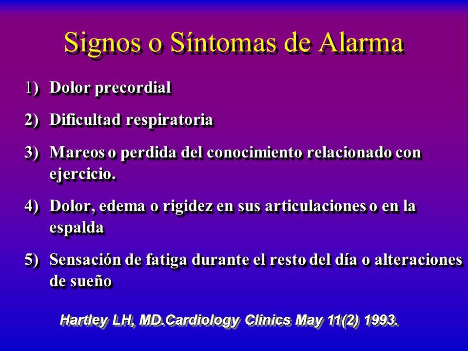 Signos o Síntomas de Alarma