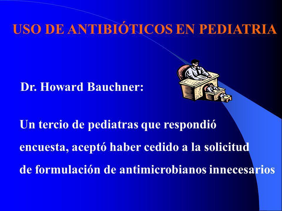 USO DE ANTIBIÓTICOS EN PEDIATRIA