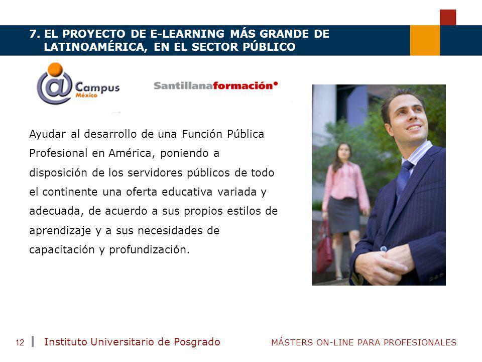 7. EL PROYECTO DE E-LEARNING MÁS GRANDE DE