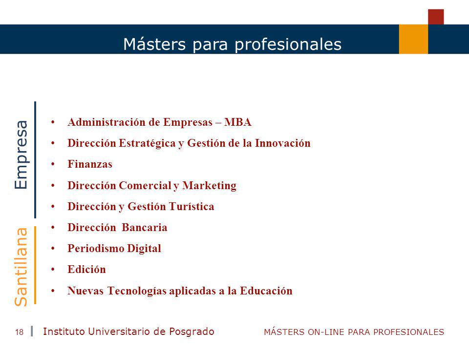 Másters para profesionales