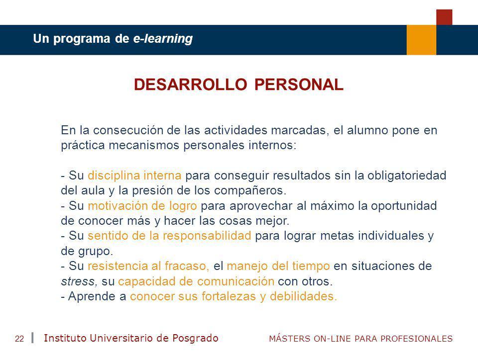 DESARROLLO PERSONAL Un programa de e-learning