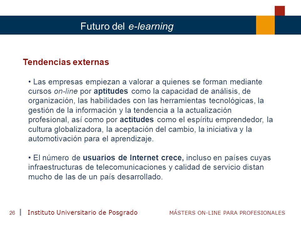 Futuro del e-learning Tendencias externas