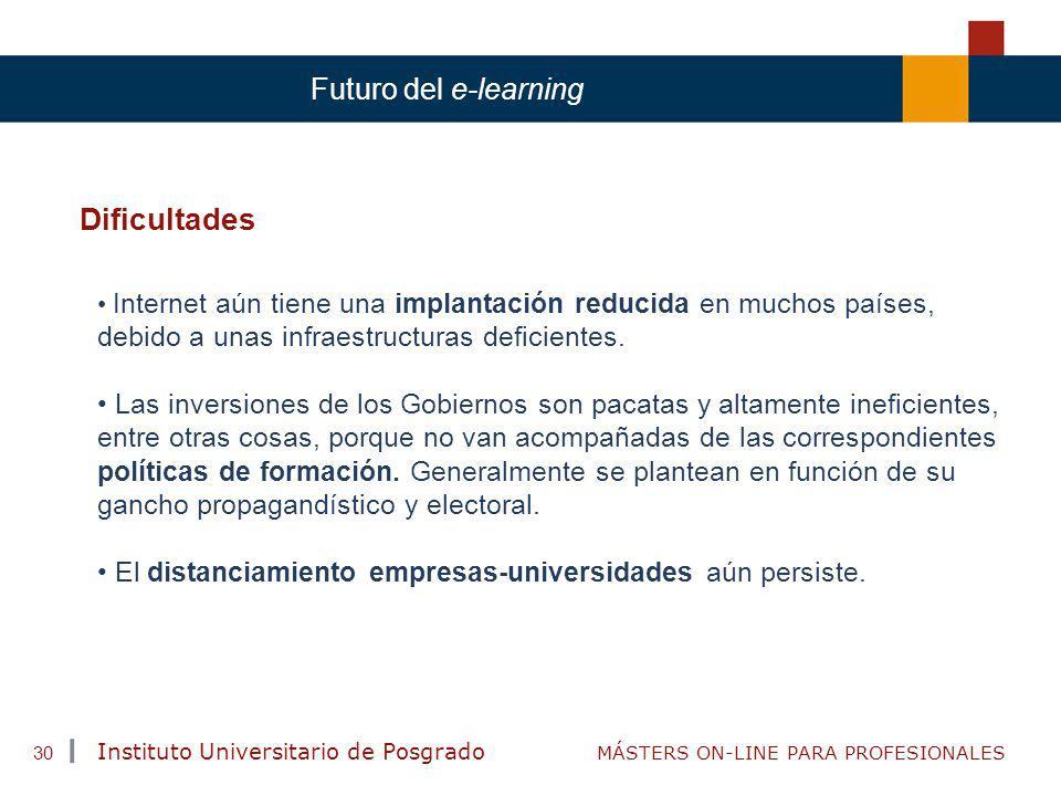 Dificultades Futuro del e-learning