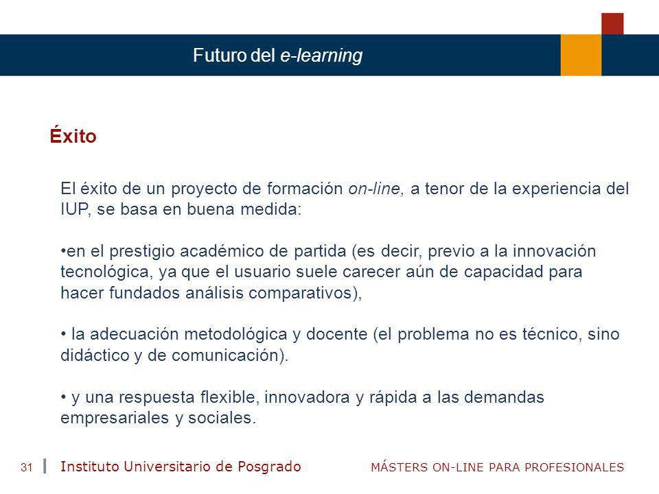 Éxito Futuro del e-learning