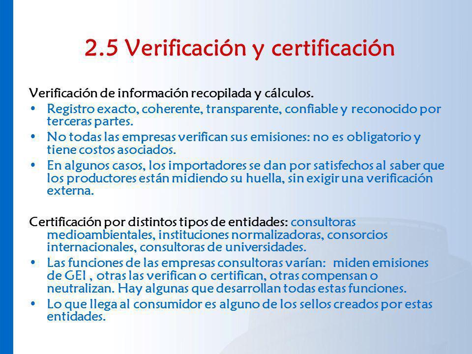2.5 Verificación y certificación
