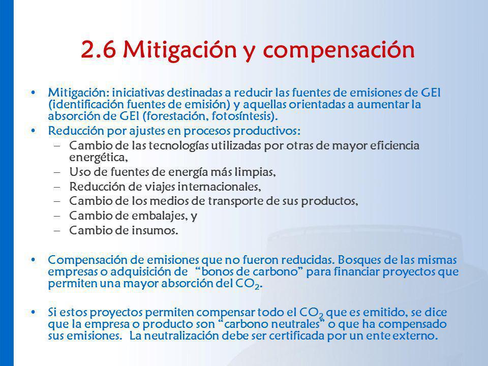 2.6 Mitigación y compensación