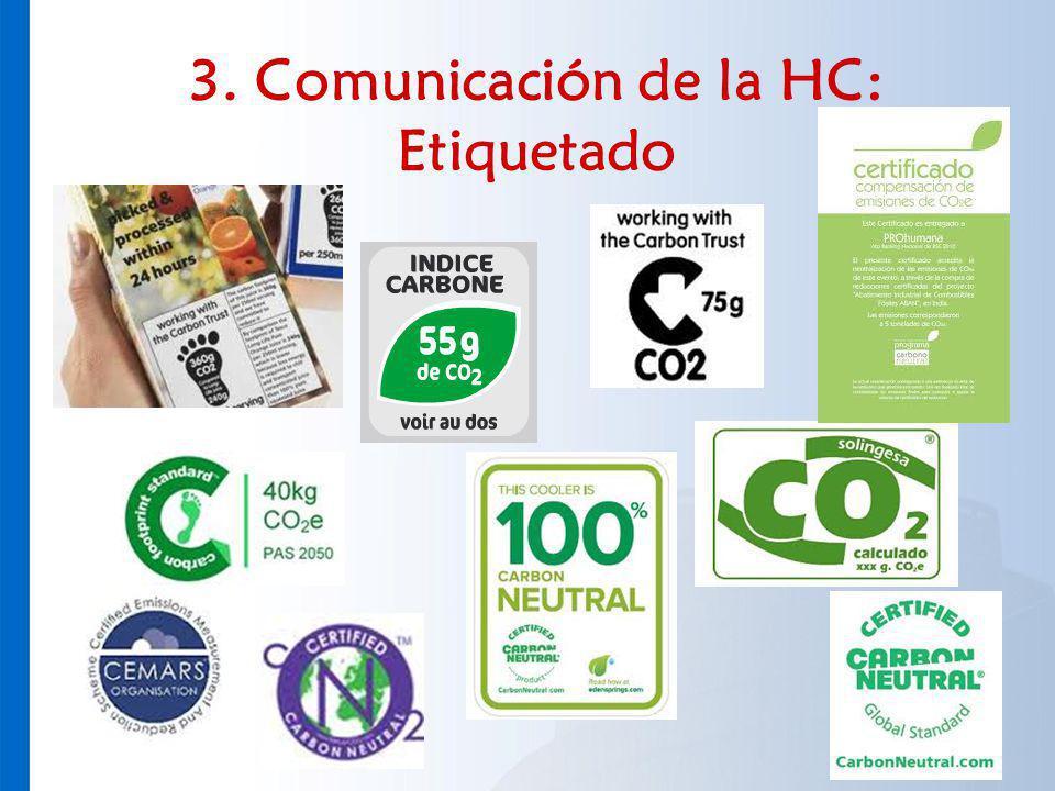 3. Comunicación de la HC: Etiquetado