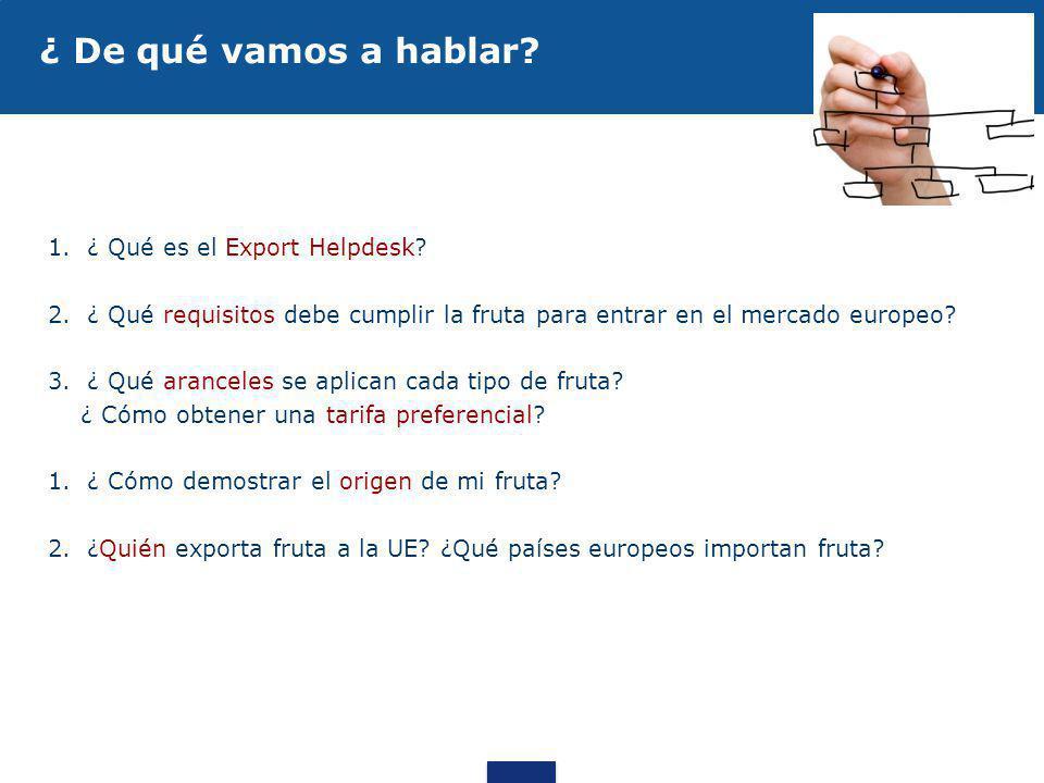 ¿ De qué vamos a hablar ¿ Qué es el Export Helpdesk