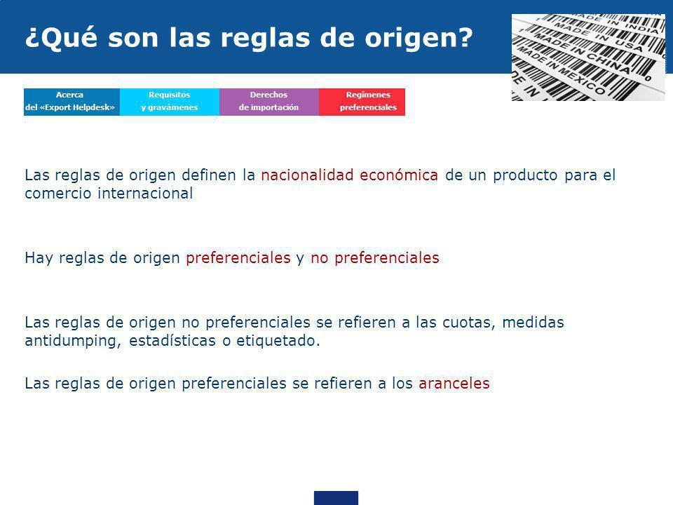¿Qué son las reglas de origen
