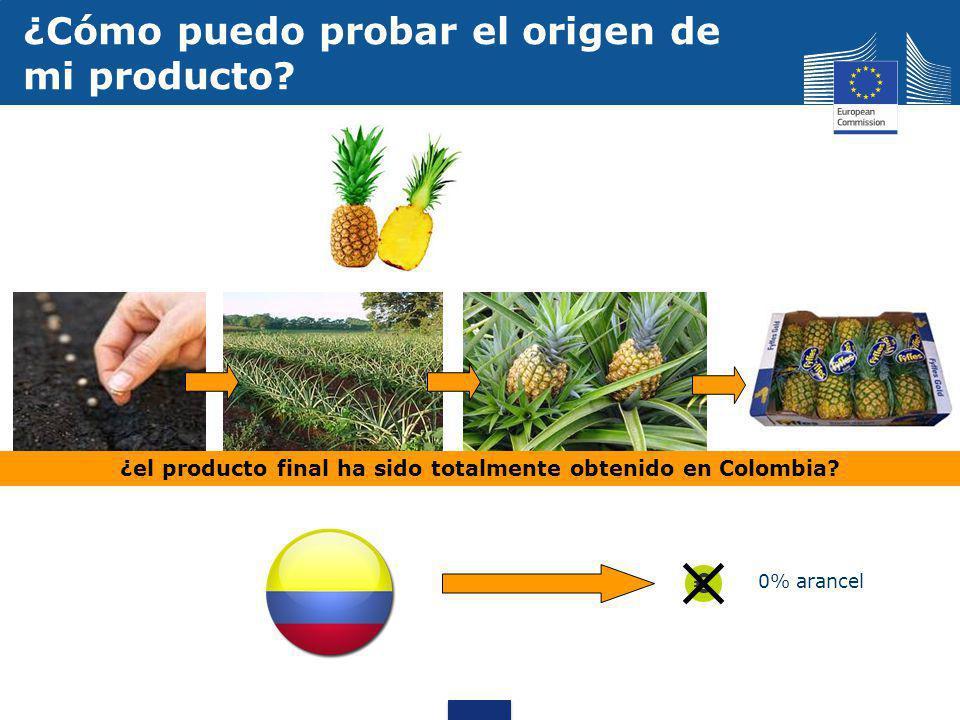 ¿el producto final ha sido totalmente obtenido en Colombia