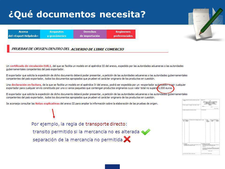 ¿Qué documentos necesita