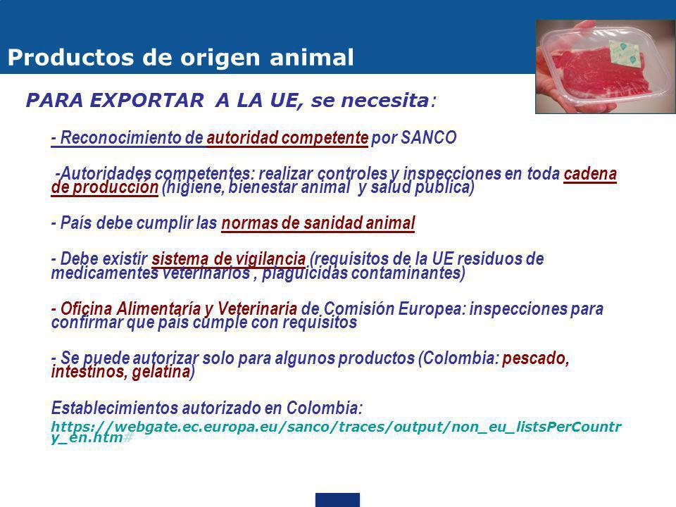 Productos de origen animal