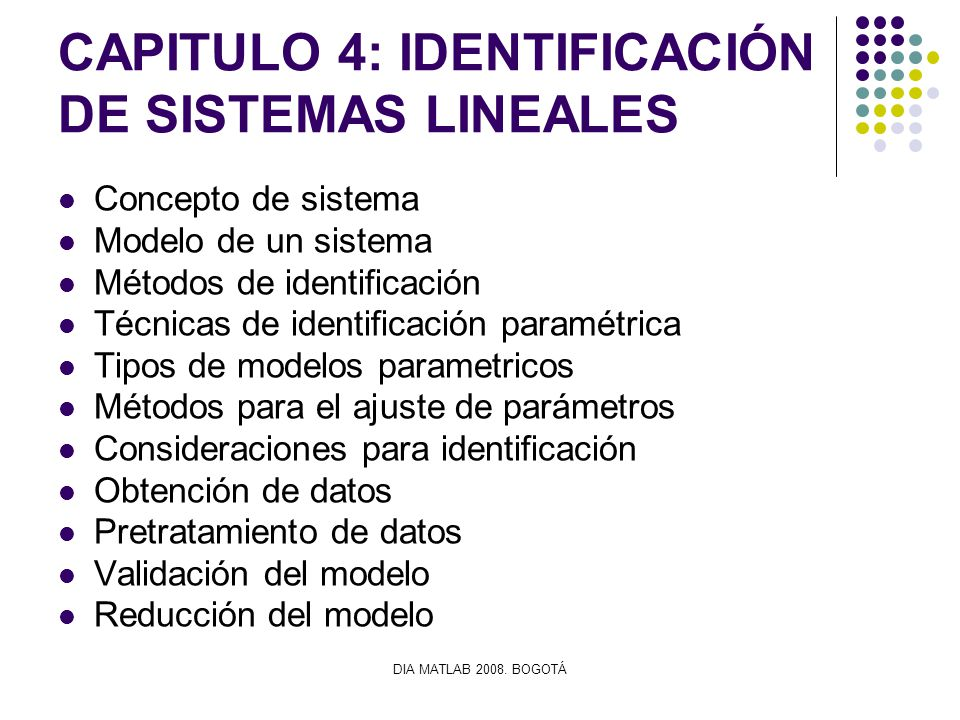 CAPITULO 4: IDENTIFICACIÓN DE SISTEMAS LINEALES