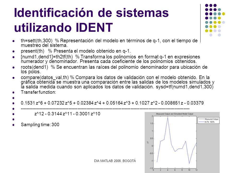 Identificación de sistemas utilizando IDENT