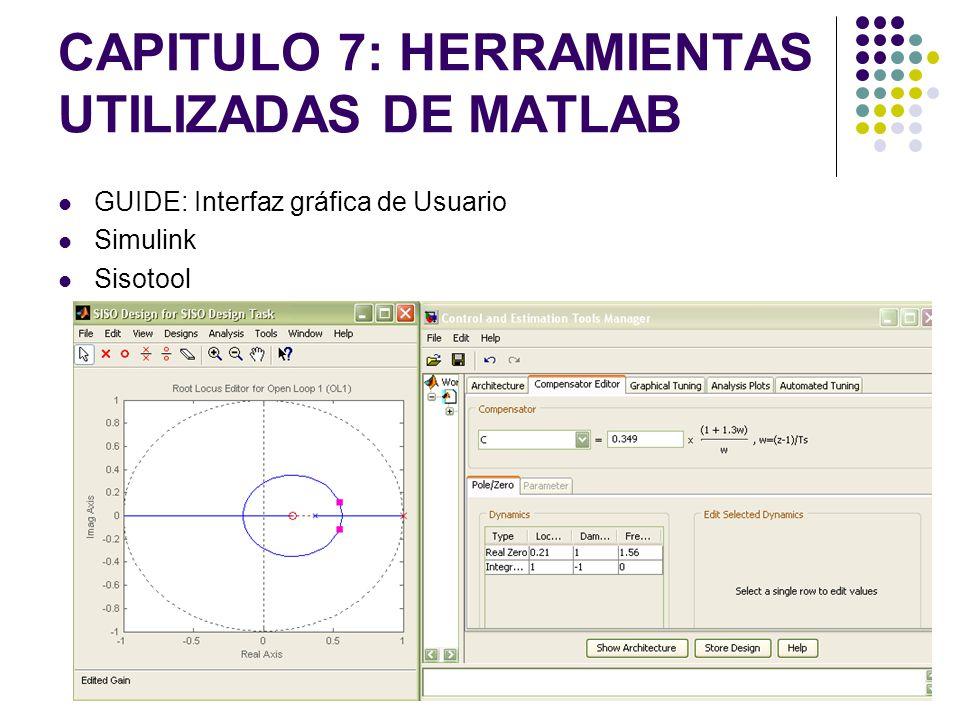CAPITULO 7: HERRAMIENTAS UTILIZADAS DE MATLAB