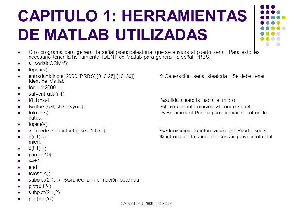 CAPITULO 1: HERRAMIENTAS DE MATLAB UTILIZADAS
