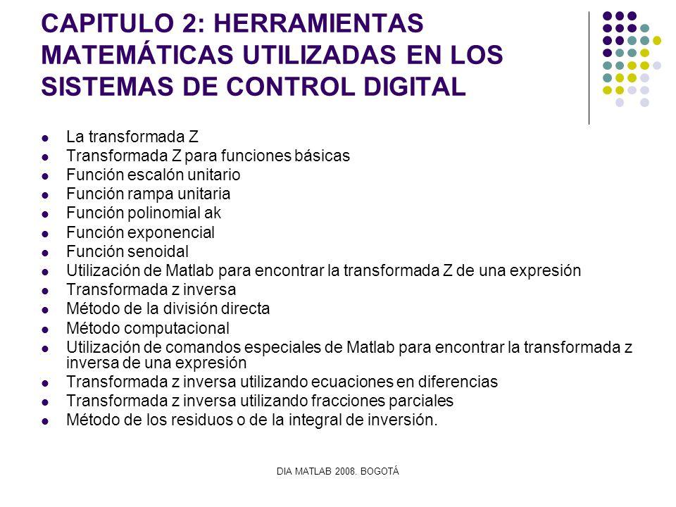 CAPITULO 2: HERRAMIENTAS MATEMÁTICAS UTILIZADAS EN LOS SISTEMAS DE CONTROL DIGITAL