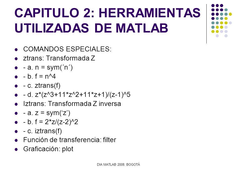 CAPITULO 2: HERRAMIENTAS UTILIZADAS DE MATLAB
