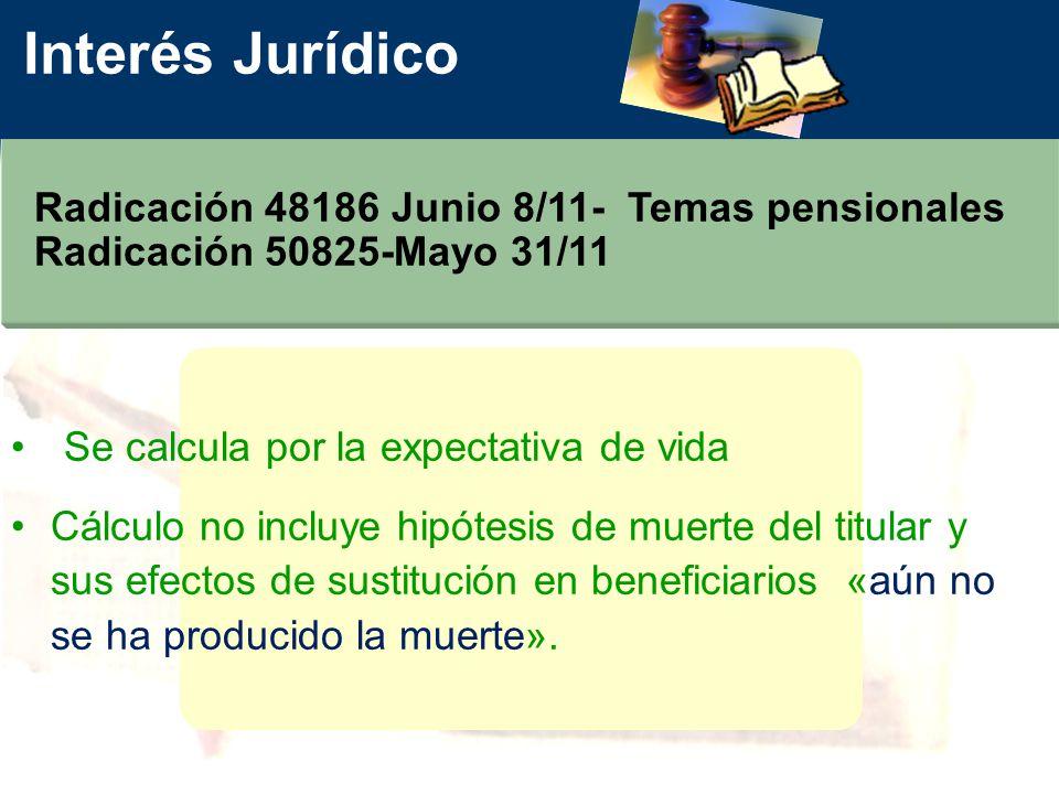 Interés Jurídico Radicación 48186 Junio 8/11- Temas pensionales