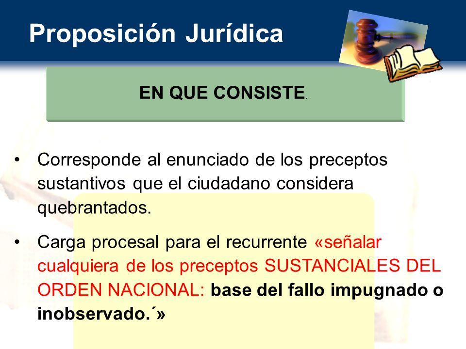 Proposición Jurídica EN QUE CONSISTE.