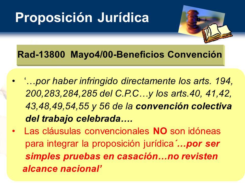 Rad-13800 Mayo4/00-Beneficios Convención