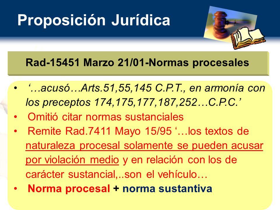 Rad-15451 Marzo 21/01-Normas procesales