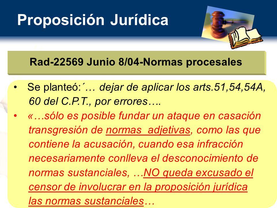 Rad-22569 Junio 8/04-Normas procesales