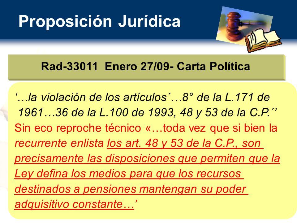 Rad-33011 Enero 27/09- Carta Política