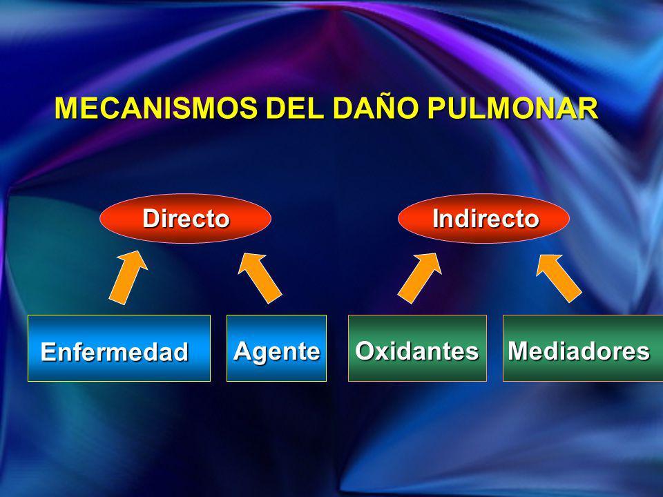 MECANISMOS DEL DAÑO PULMONAR