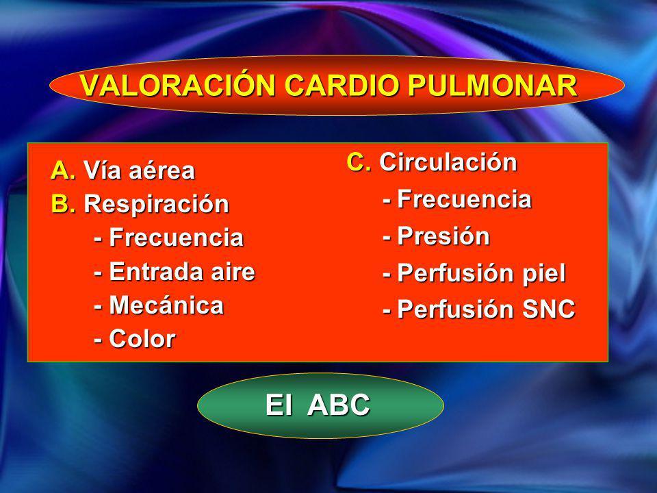 VALORACIÓN CARDIO PULMONAR