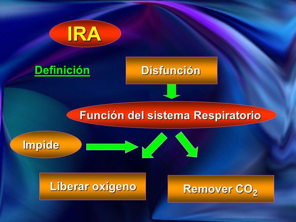 IRA Definición Disfunción Función del sistema Respiratorio Impide