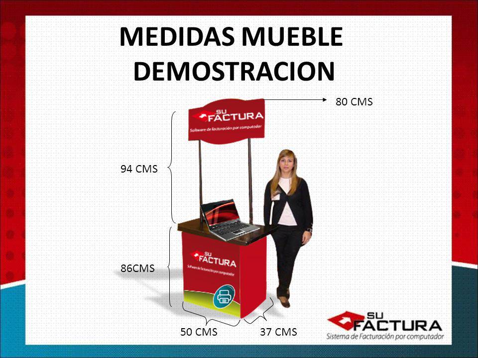 MEDIDAS MUEBLE DEMOSTRACION