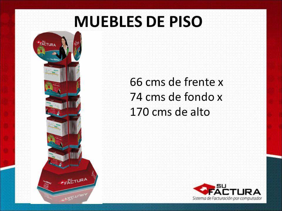 MUEBLES DE PISO 66 cms de frente x 74 cms de fondo x 170 cms de alto