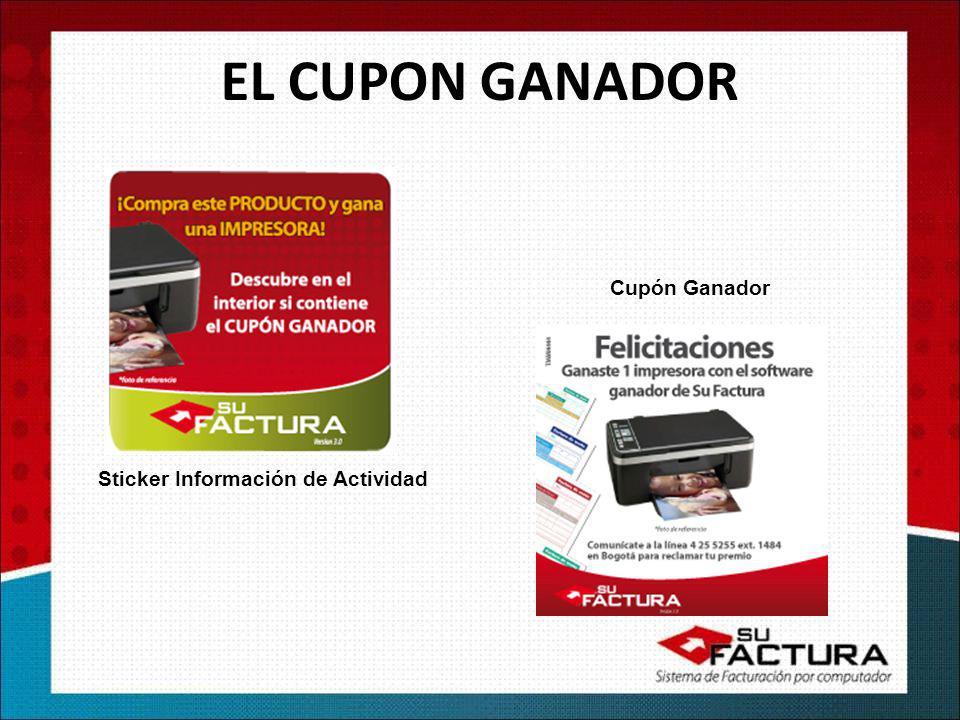 EL CUPON GANADOR Cupón Ganador Sticker Información de Actividad