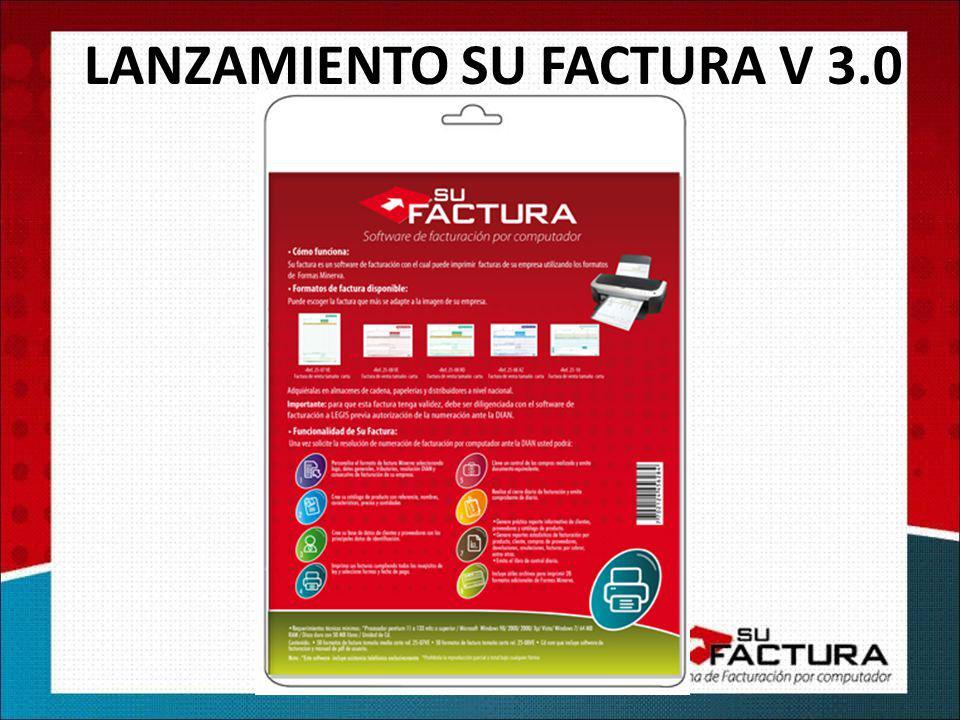 LANZAMIENTO SU FACTURA V 3.0
