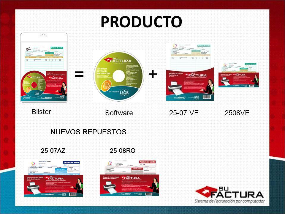 PRODUCTO = + Blister Software 25-07 VE 2508VE NUEVOS REPUESTOS