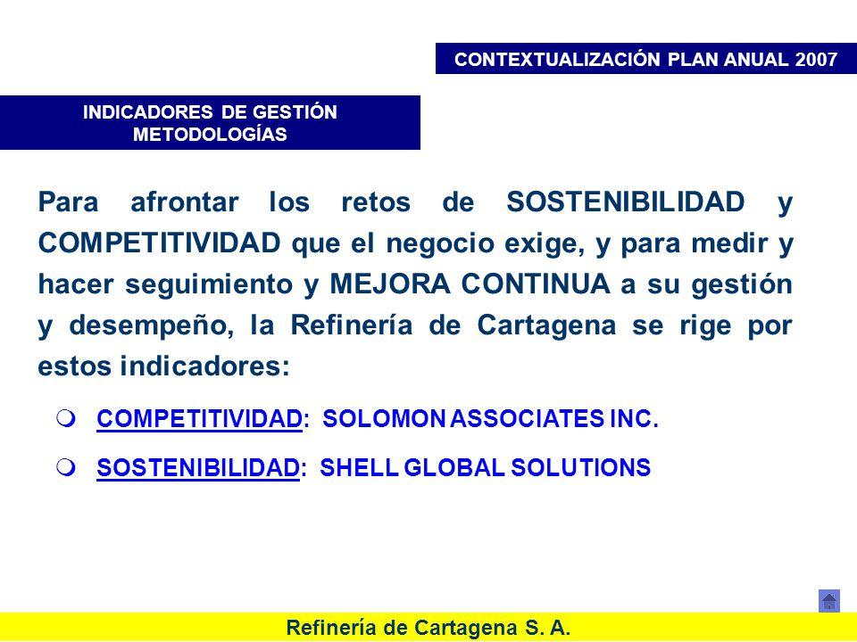 CONTEXTUALIZACIÓN PLAN ANUAL 2007 INDICADORES DE GESTIÓN METODOLOGÍAS