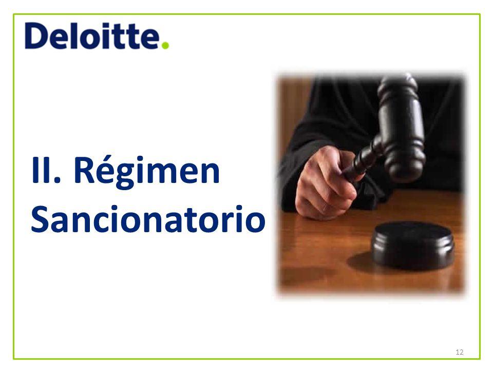 II. Régimen Sancionatorio