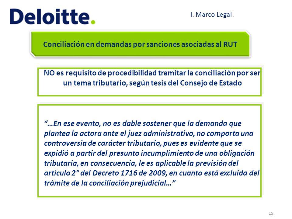 Conciliación en demandas por sanciones asociadas al RUT