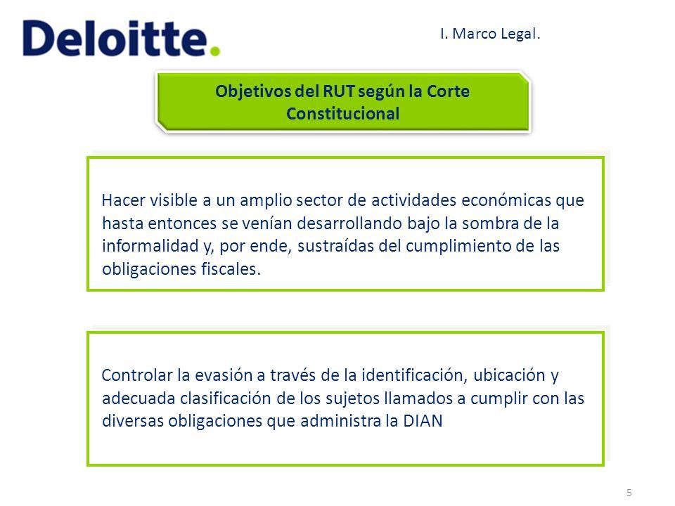 Objetivos del RUT según la Corte Constitucional