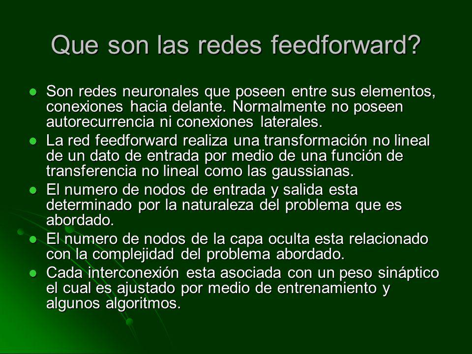 Que son las redes feedforward