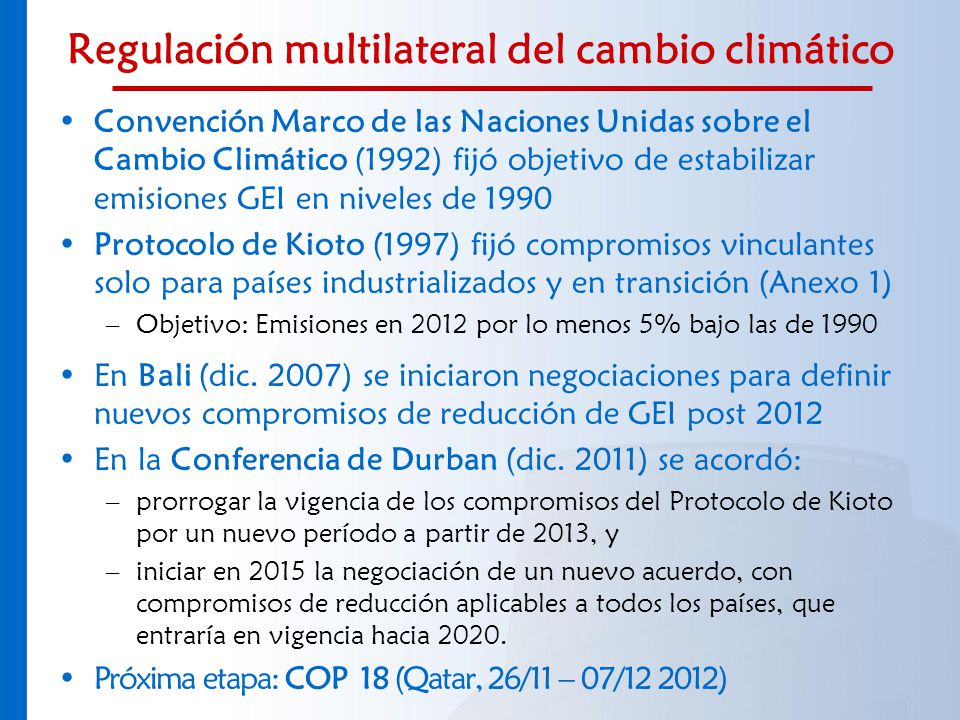 Regulación multilateral del cambio climático