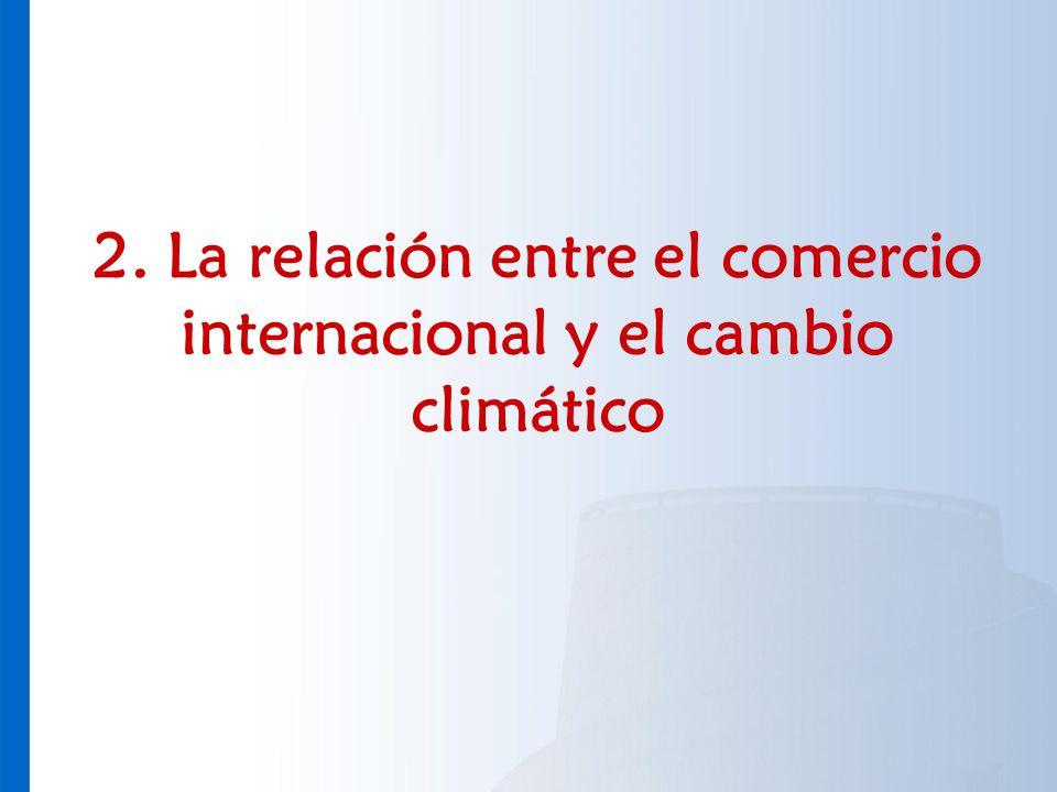 2. La relación entre el comercio internacional y el cambio climático