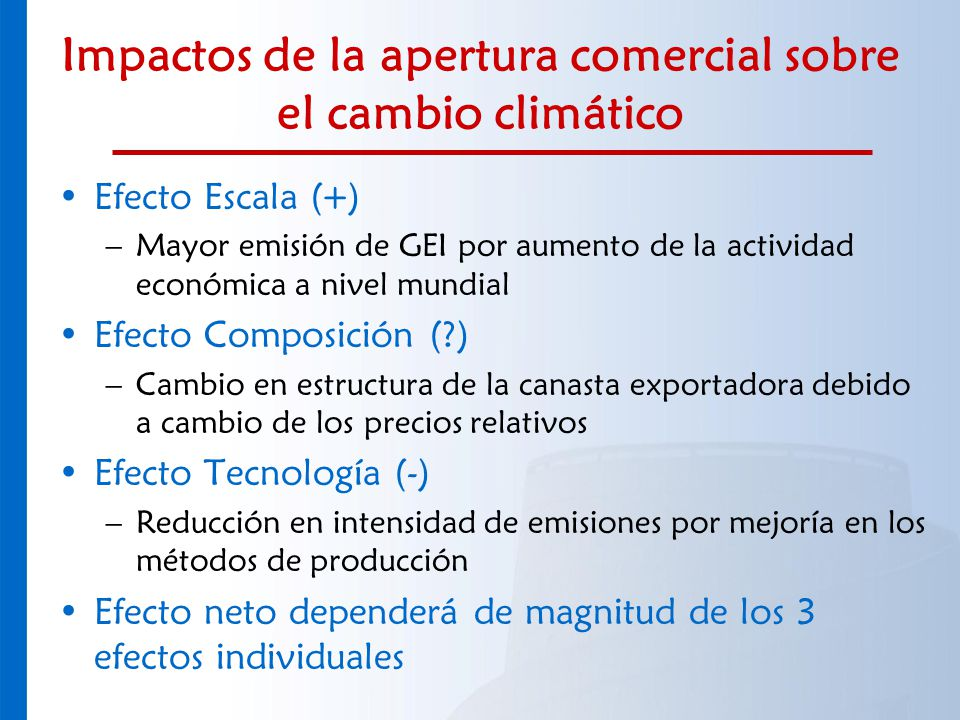 Impactos de la apertura comercial sobre el cambio climático